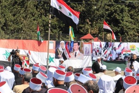 الجولان: صور من احياء عيد الجلاء في مسعدة